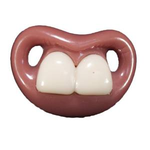 Chupetes Dientes - Chupete �ajai (Sin Anilla) - Two Front Teeth Pacifier Billy Bob