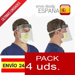 Imagen .ESPECIAL COVID19 PACK de 4 Pantallas de protección facial- ALTA PROTECCION